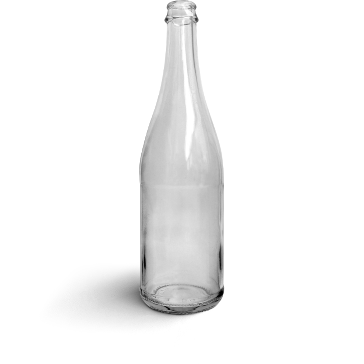 Une bouteille en verre réemployée par Bout' à Bout'