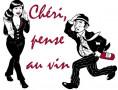 le logo de Chéri, pense au vin