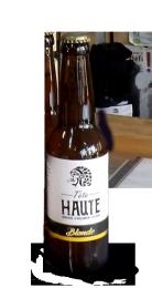 Une bouteille de la gamme de Brasserie Tête Haute