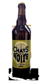 Une bouteille de la gamme de Brasserie des Chats Noirs