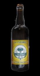 Une bouteille de la gamme de Brasserie L'Olifant