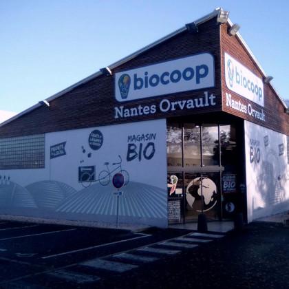 Photo de Biocoop Nantes Orvault, membre de Bout à Bout, réseau de réemploi des bouteilles en verre en Pays de la Loire