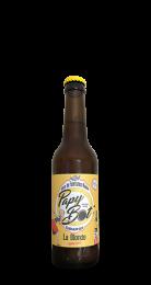 Une bouteille de la gamme de Brasserie Papybot'