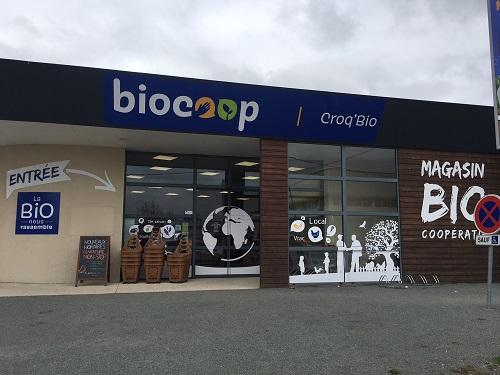 Photo de Biocoop Croq'Bio Sud, membre de Bout à Bout, réseau de réemploi des bouteilles en verre en Pays de la Loire