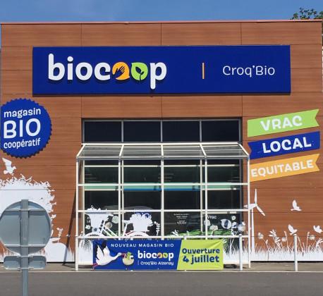 Photo de Biocoop Croq'Bio Aizenay, membre de Bout à Bout, réseau de réemploi des bouteilles en verre en Pays de la Loire