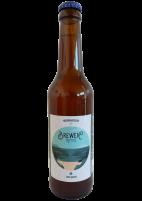 Une bouteille de la gamme de Microbrasserie Brewen